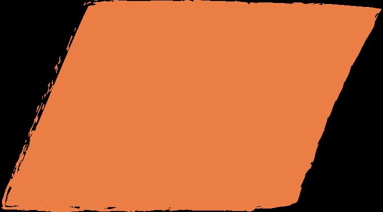 Parallelogramm-orange Clipart-Grafik als PNG, SVG