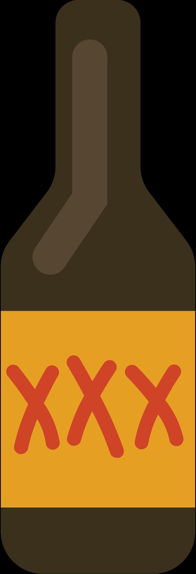 beer bottle Clipart illustration in PNG, SVG