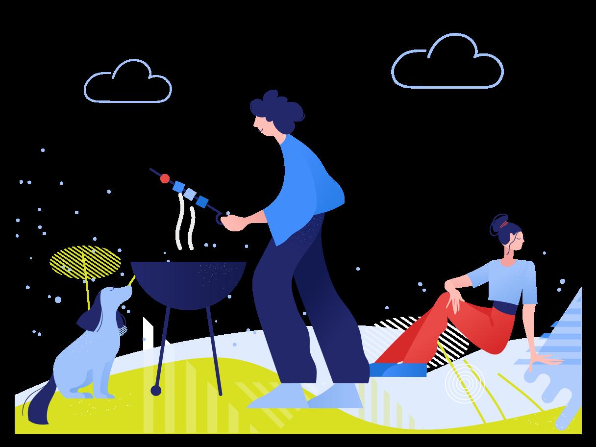 Summer bbq Clipart illustration in PNG, SVG
