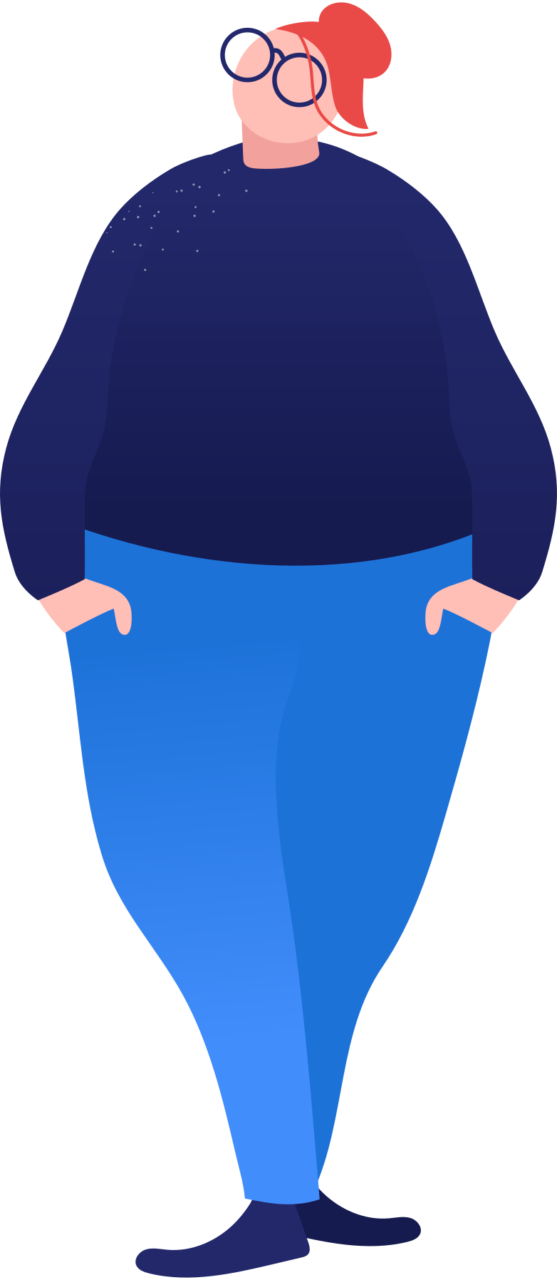 fat woman standing Clipart illustration in PNG, SVG