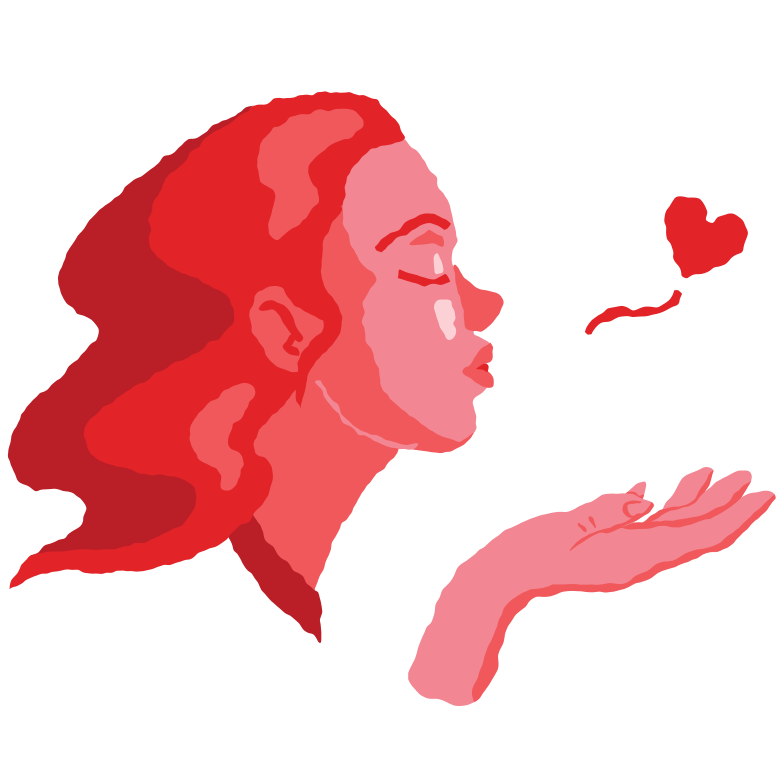 Air kiss Clipart illustration in PNG, SVG