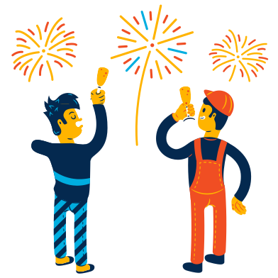 style New Year's fireworks images in PNG and SVG | Icons8 Illustrations