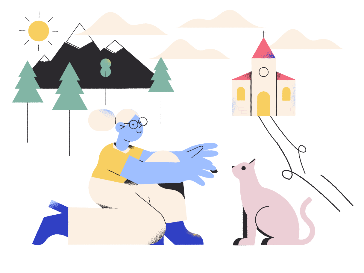 style Friendship of a girl and a cat Vector images in PNG and SVG   Icons8 Illustrations