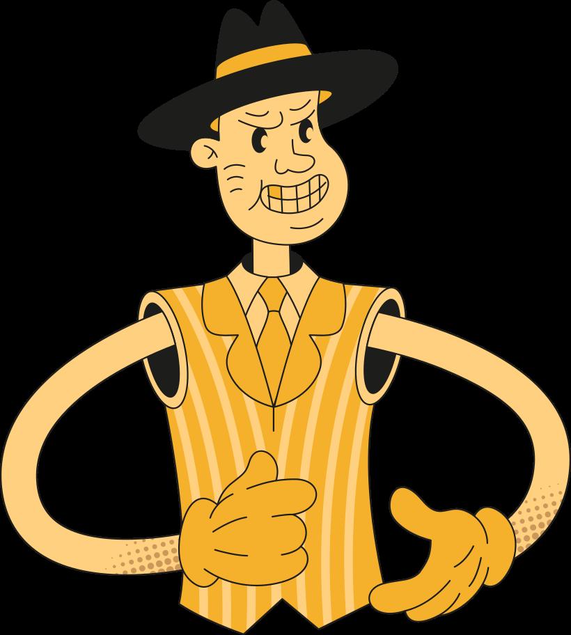 man in hat Clipart illustration in PNG, SVG