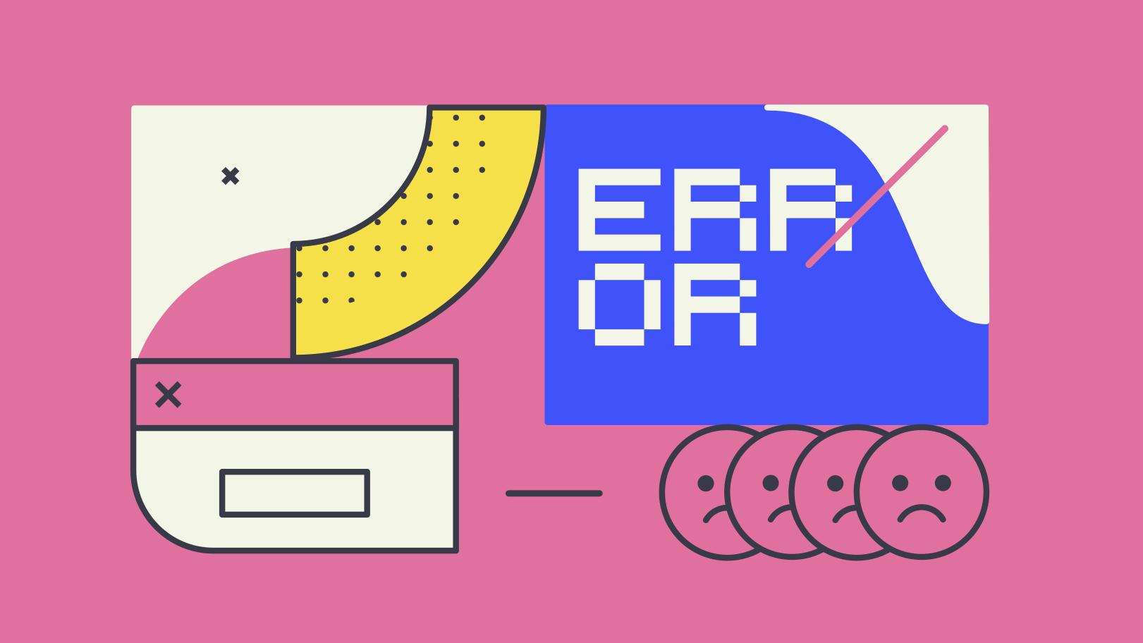 Ilustración de clipart de error fatal en PNG, SVG