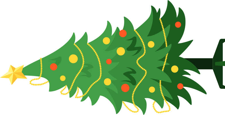 christmas tree fallen Clipart illustration in PNG, SVG