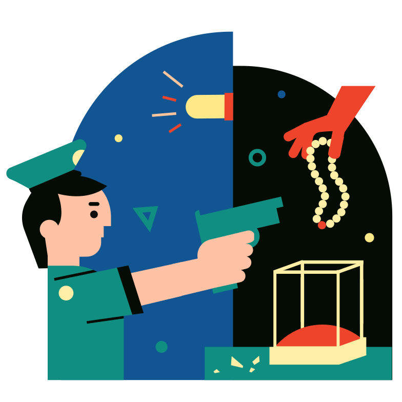 The Theft of the Century Clipart illustration in PNG, SVG
