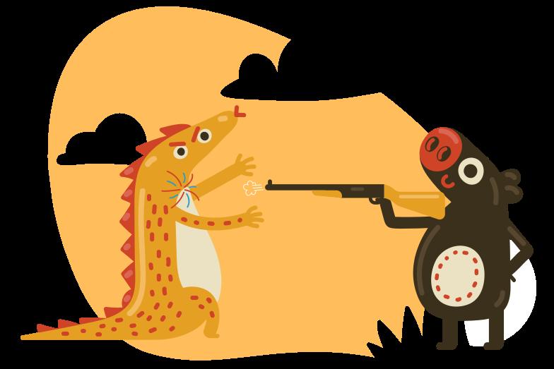 Shot dead Clipart illustration in PNG, SVG
