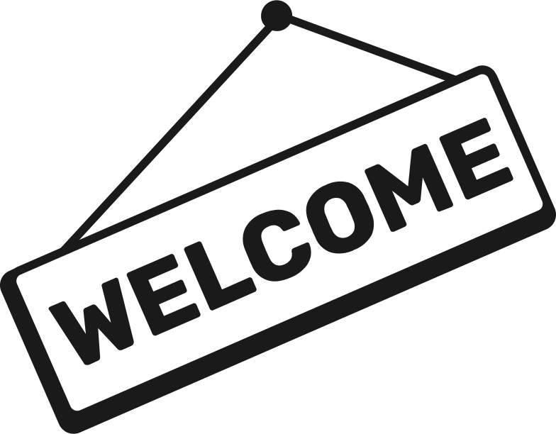 welcome sign Clipart illustration in PNG, SVG