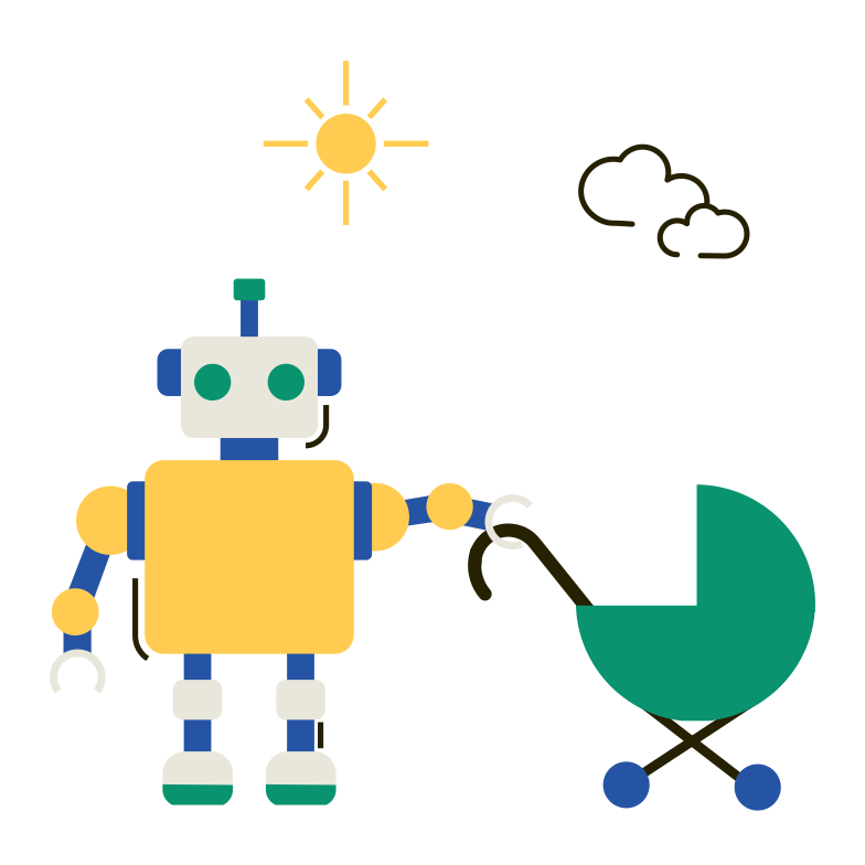 style Robot babysitter Vector images in PNG and SVG | Icons8 Illustrations