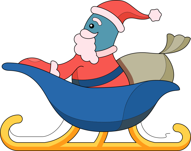 style santa in sleight Vector images in PNG and SVG | Icons8 Illustrations