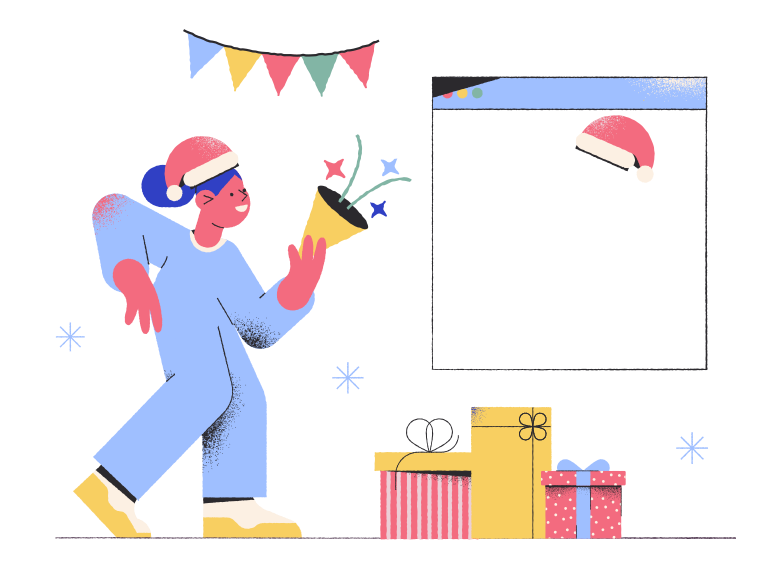 style Online Christmas party Vector images in PNG and SVG | Icons8 Illustrations