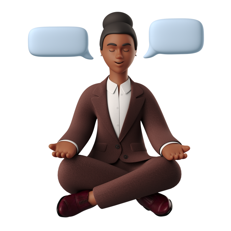 Woman in meditation Clipart illustration in PNG, SVG