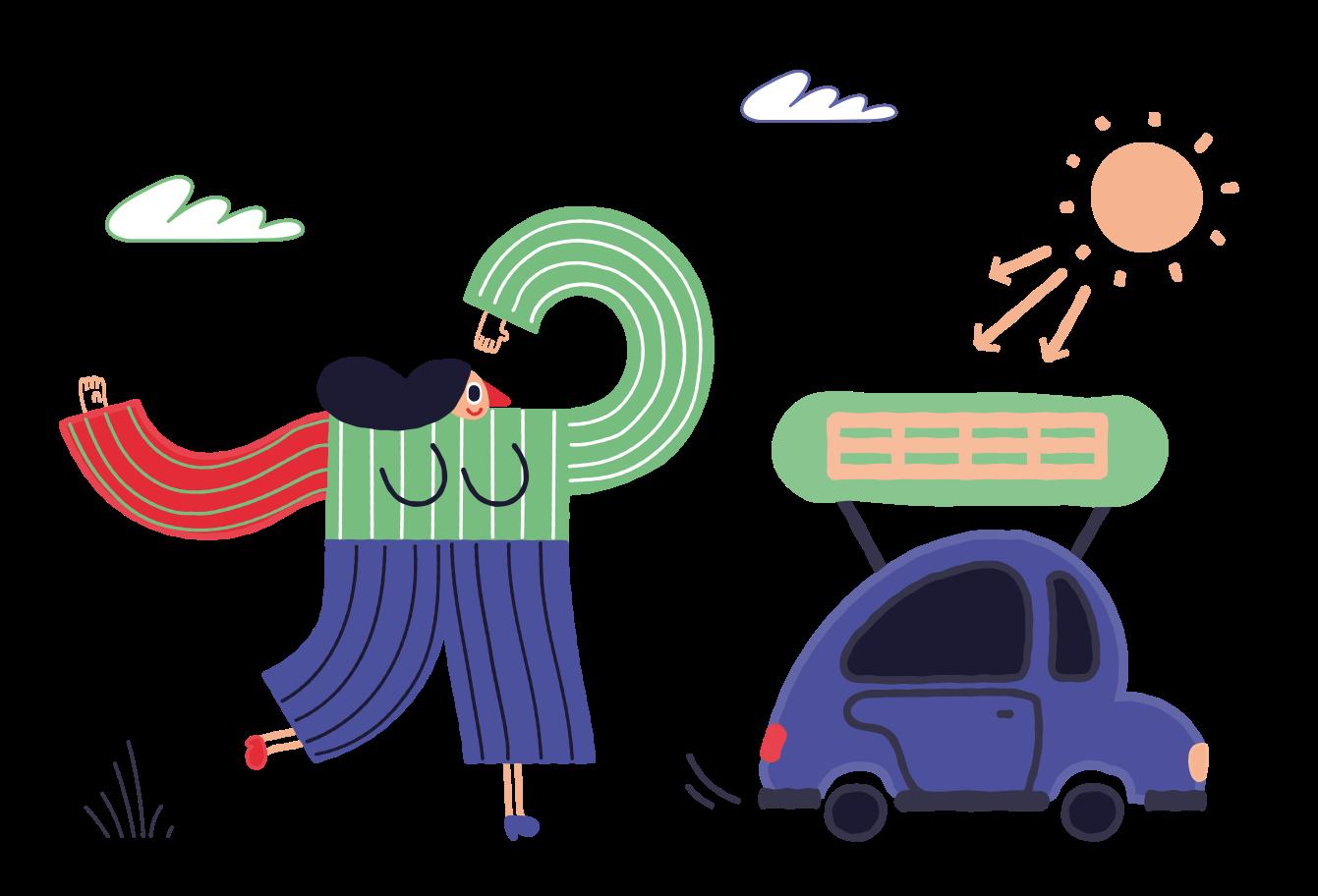 Eco-transport Clipart illustration in PNG, SVG