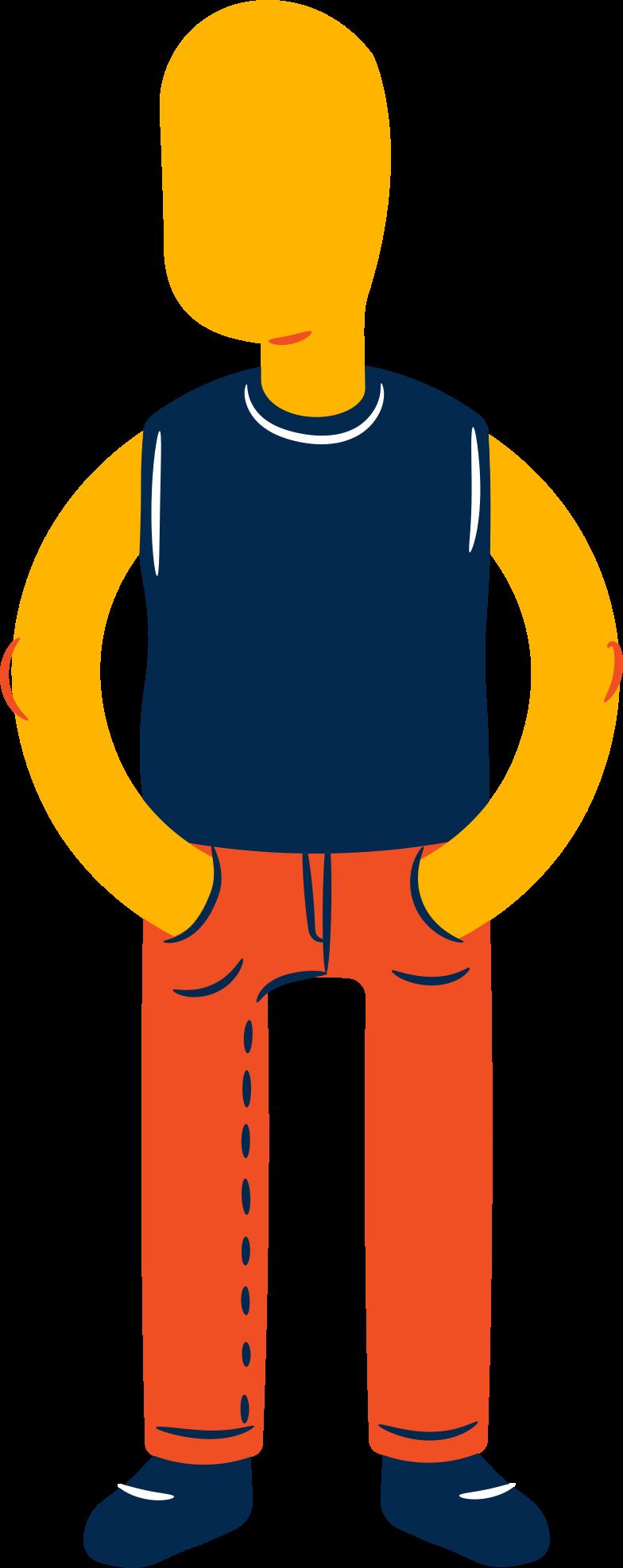 boy standing Clipart illustration in PNG, SVG