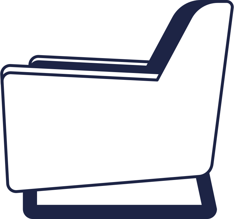 small armchair line Clipart illustration in PNG, SVG