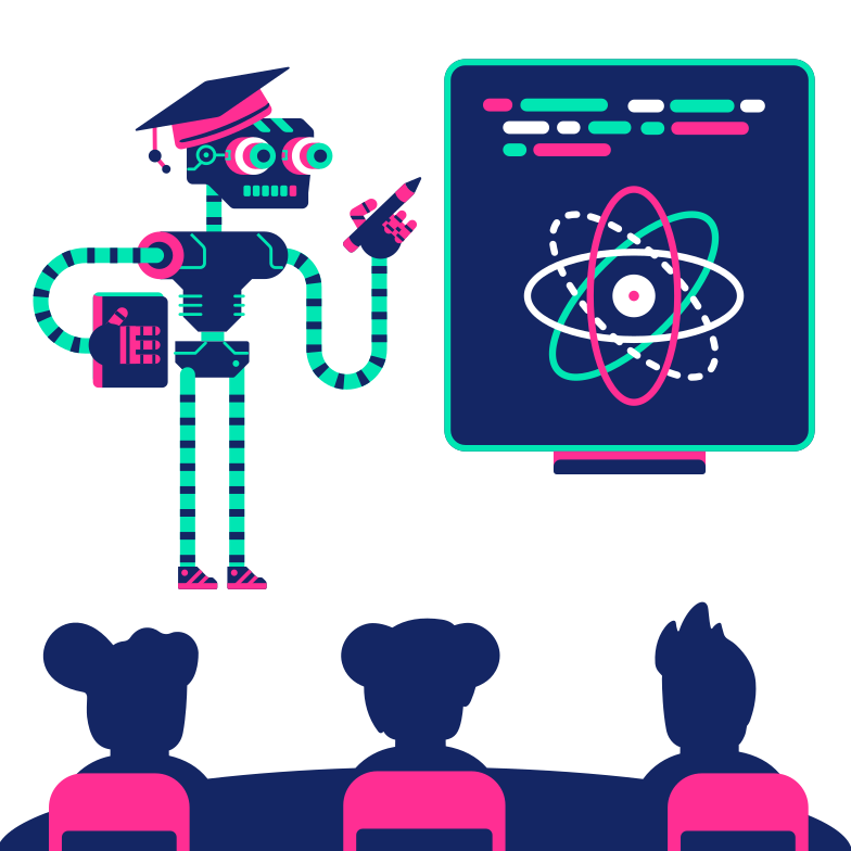 Robotic learning Clipart illustration in PNG, SVG