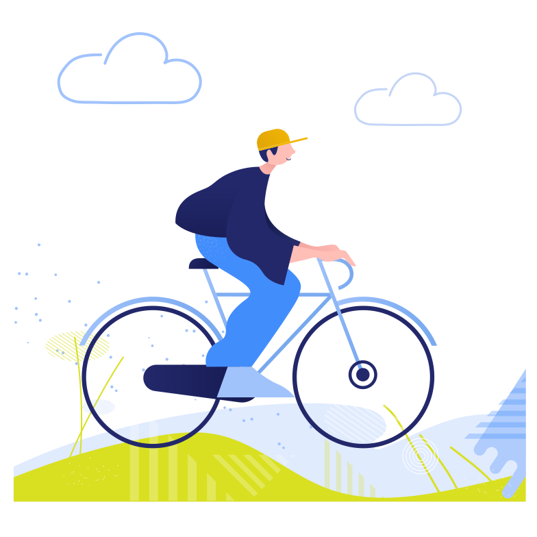 style Riding a bicycle Vector images in PNG and SVG | Icons8 Illustrations