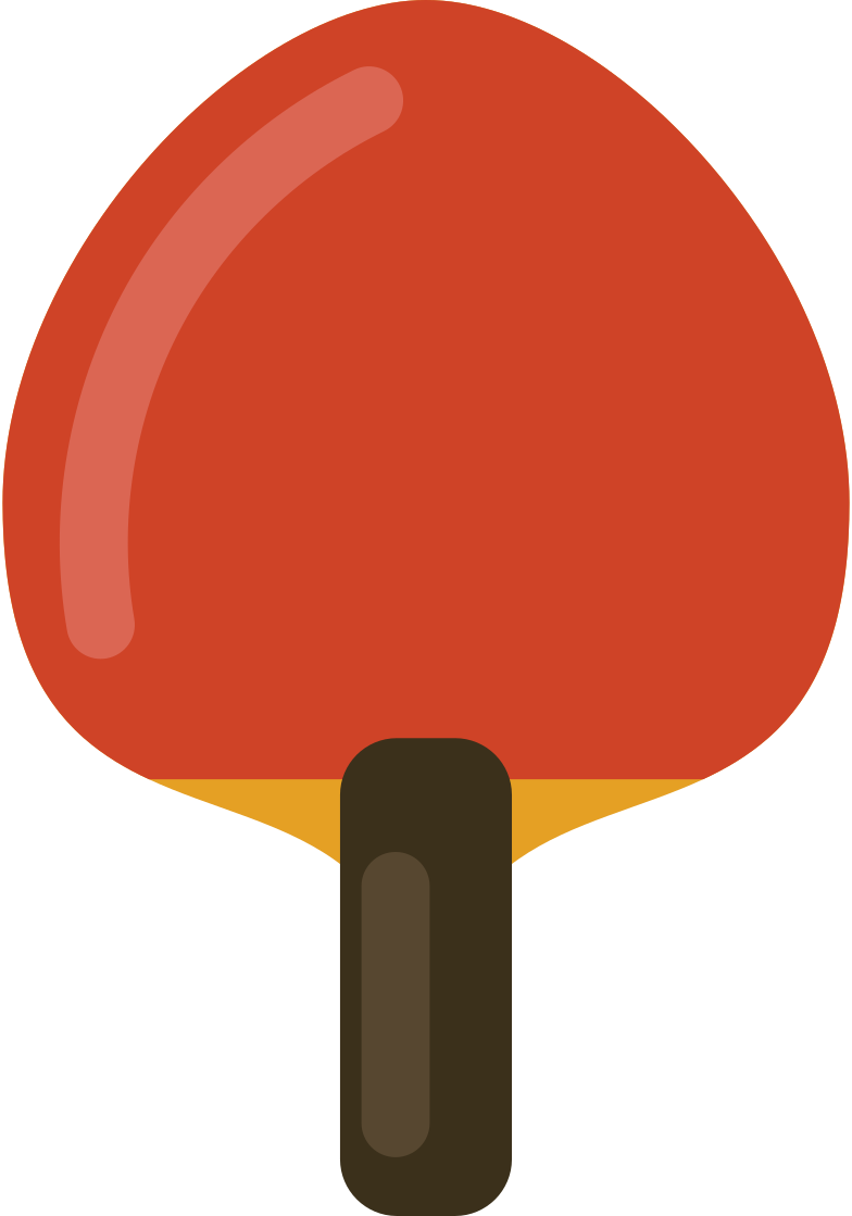 ping pong paddle Clipart illustration in PNG, SVG