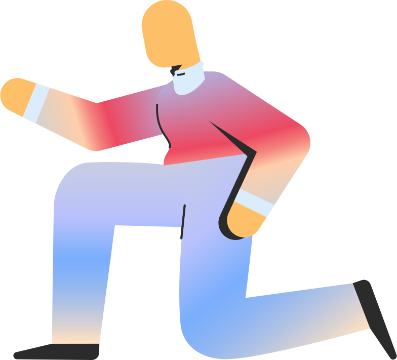 adult on knee Clipart illustration in PNG, SVG