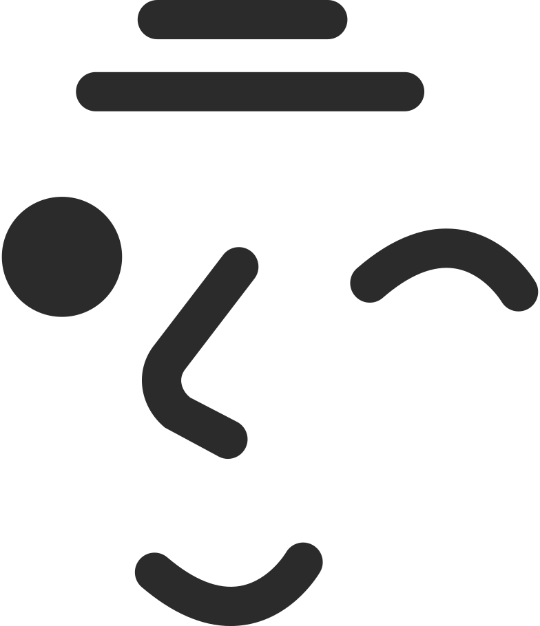 old winking face Clipart illustration in PNG, SVG