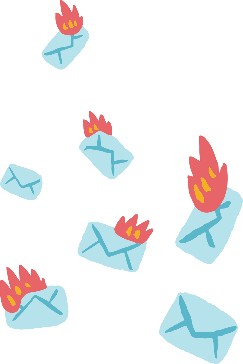 burning letters Clipart illustration in PNG, SVG