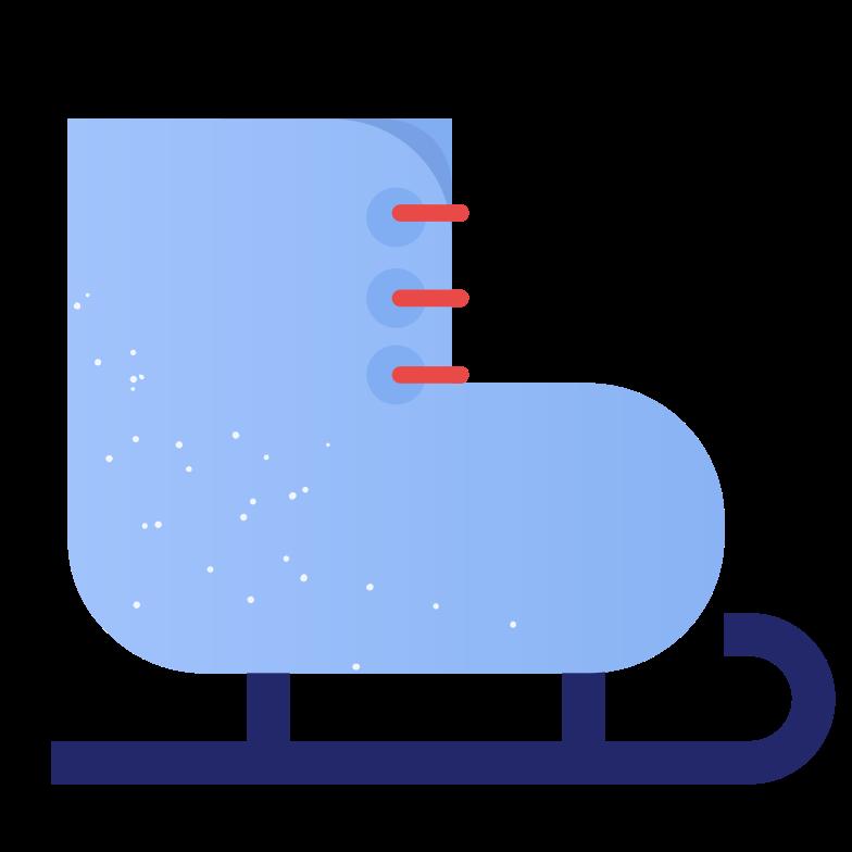 ice skate Clipart illustration in PNG, SVG
