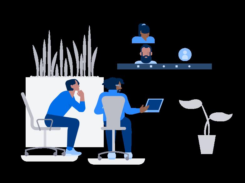 Клипарт Zoom встреча в PNG и SVG