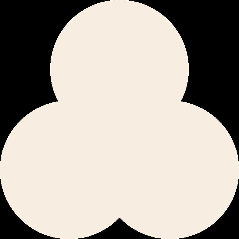trefoil-beige Clipart illustration in PNG, SVG