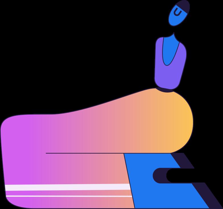 Zahlung verarbeitet sitzende person Clipart-Grafik als PNG, SVG
