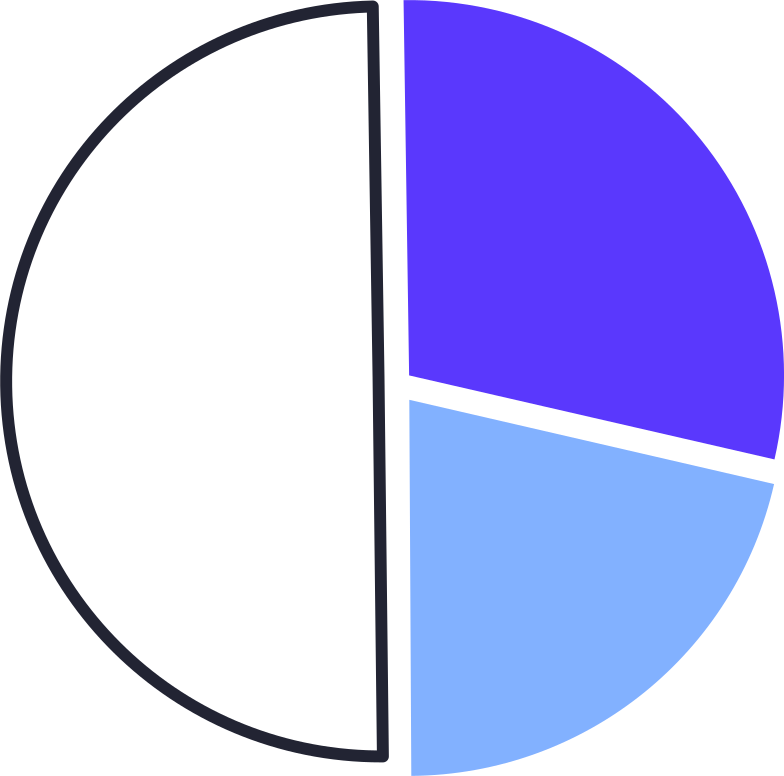 analytics  pie chart Clipart illustration in PNG, SVG