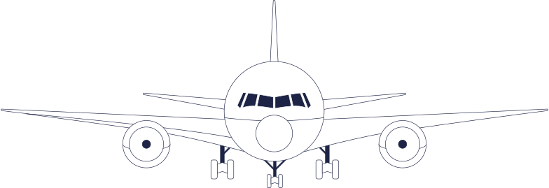 upgrading  plane 2 line Clipart illustration in PNG, SVG