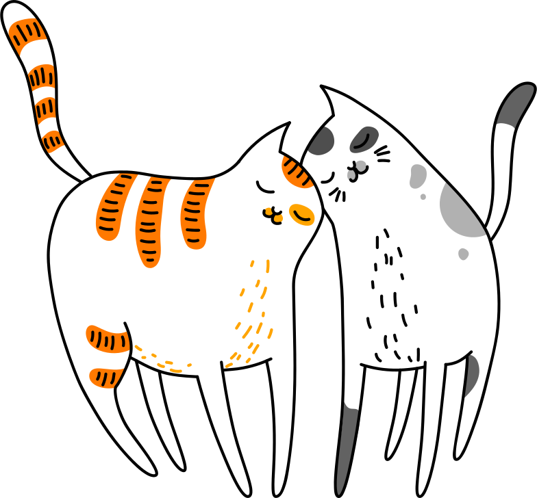 style hugging cats Vector images in PNG and SVG | Icons8 Illustrations