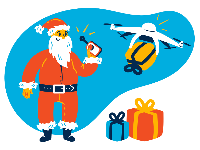 Christmas delivery Clipart illustration in PNG, SVG