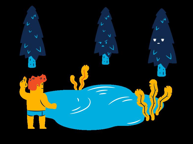 Forest lake Clipart illustration in PNG, SVG