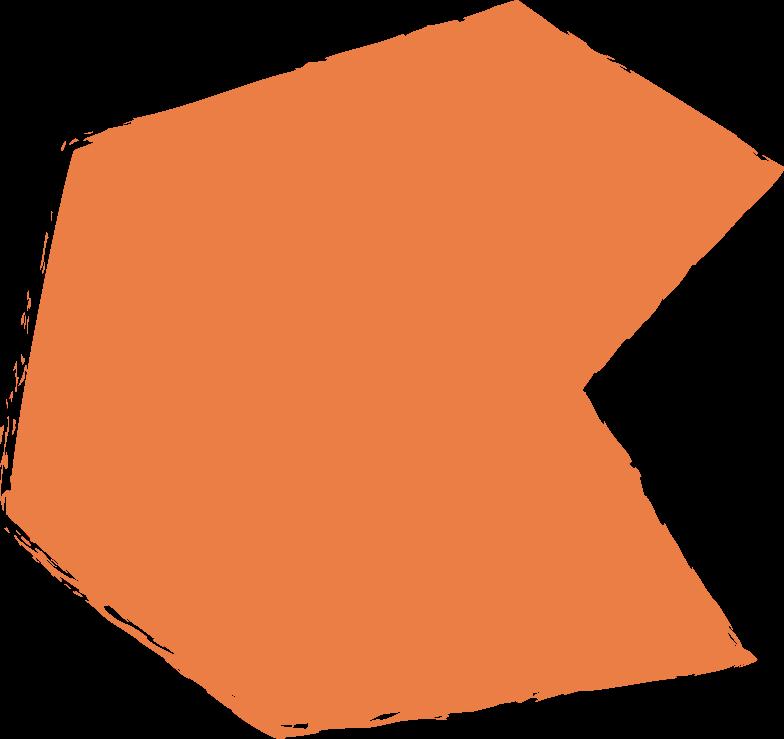 polygon-orange Clipart illustration in PNG, SVG