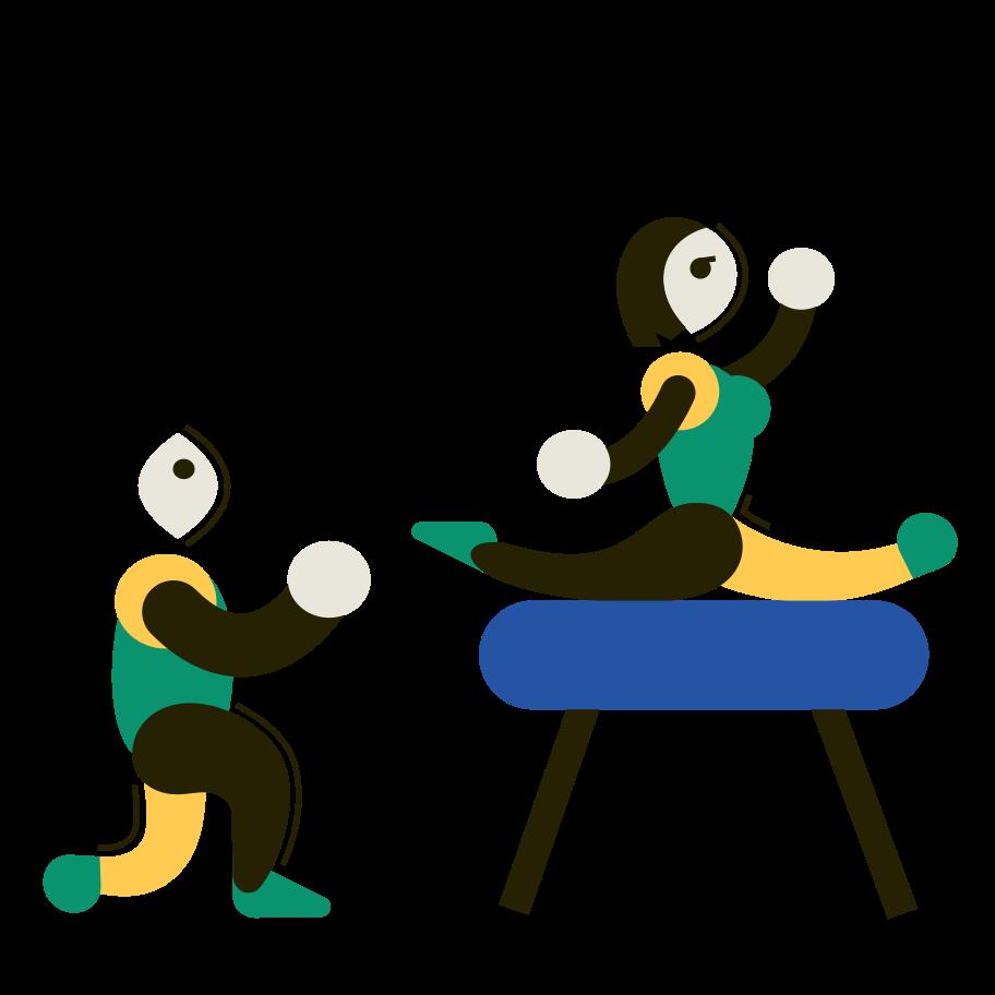 Sportlerin Clipart-Grafik als PNG, SVG