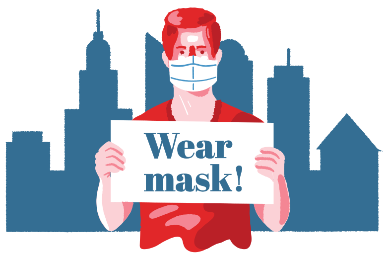 Immagine Vettoriale indossa la maschera in PNG e SVG in stile  | Illustrazioni Icons8