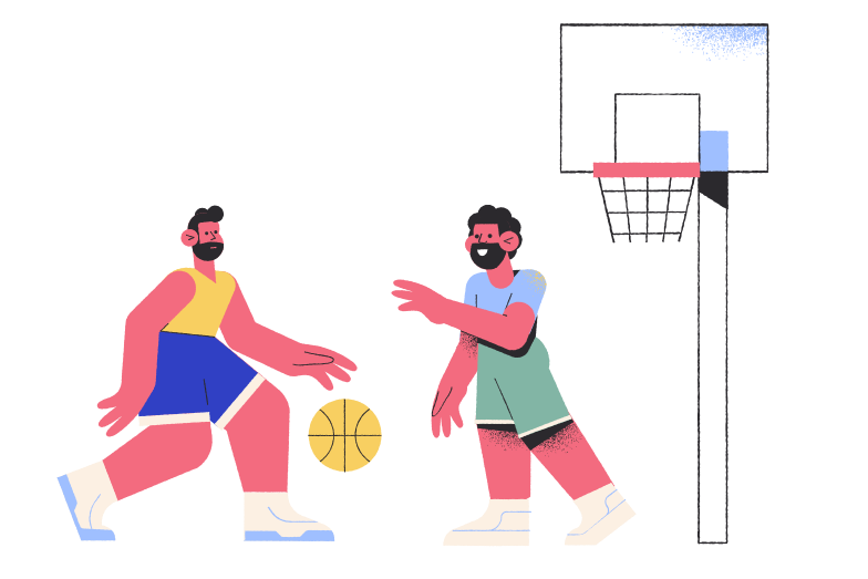 Playing basketball Clipart illustration in PNG, SVG