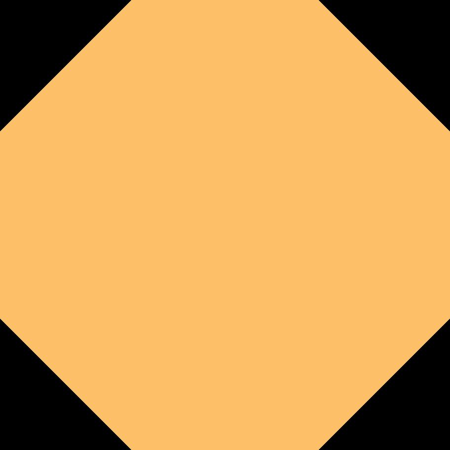 octagon orange Clipart illustration in PNG, SVG