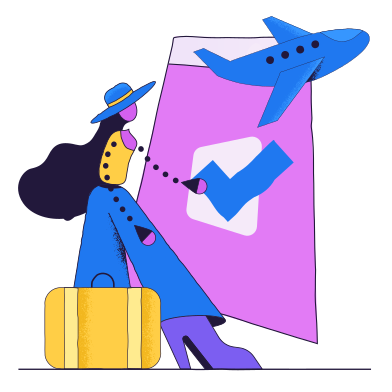 style Booking a flight images in PNG and SVG | Icons8 Illustrations