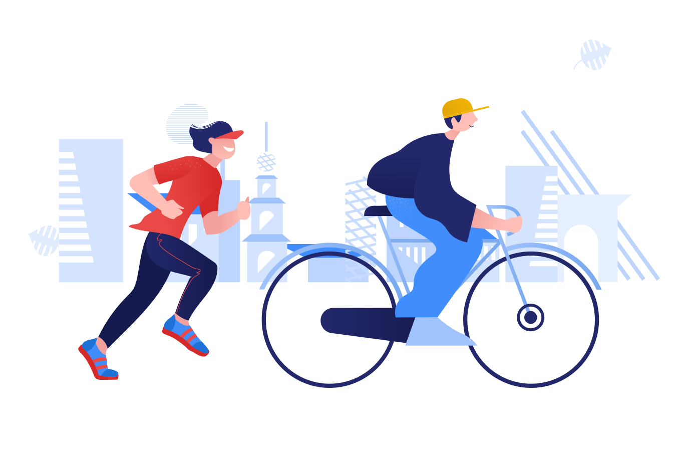 style Bicycle day and national running day Vector images in PNG and SVG | Icons8 Illustrations