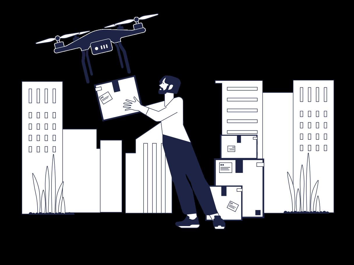 Lieferung von drohnen Clipart-Grafik als PNG, SVG