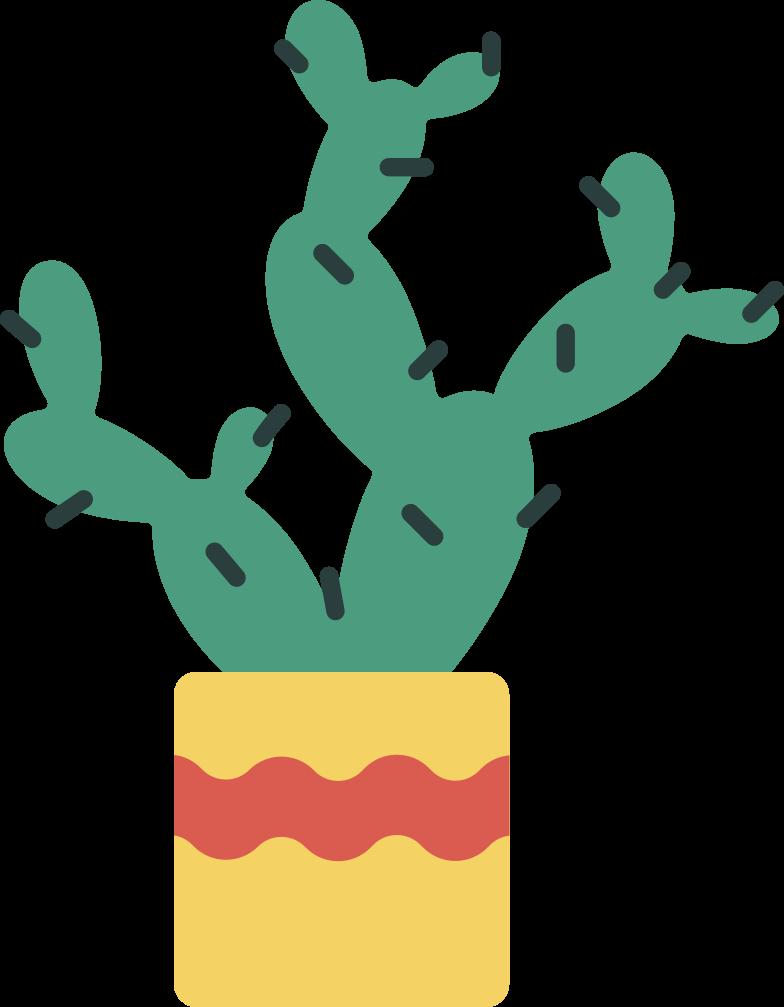 Imágenes vectoriales cactus en una maceta en PNG y SVG estilo  | Ilustraciones Icons8