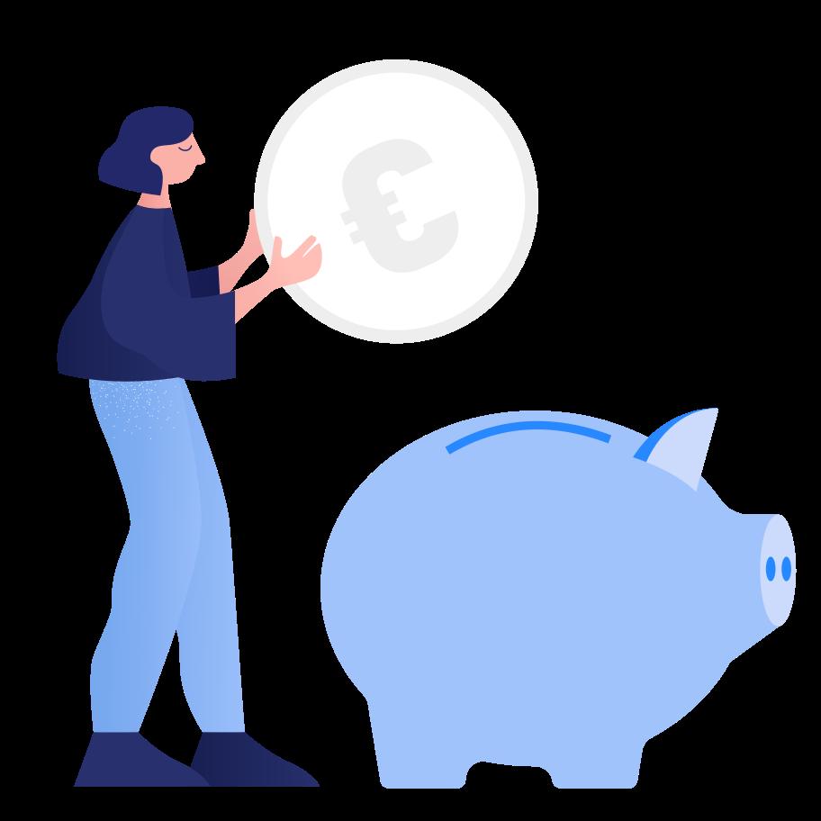 Ersparnisse Clipart-Grafik als PNG, SVG