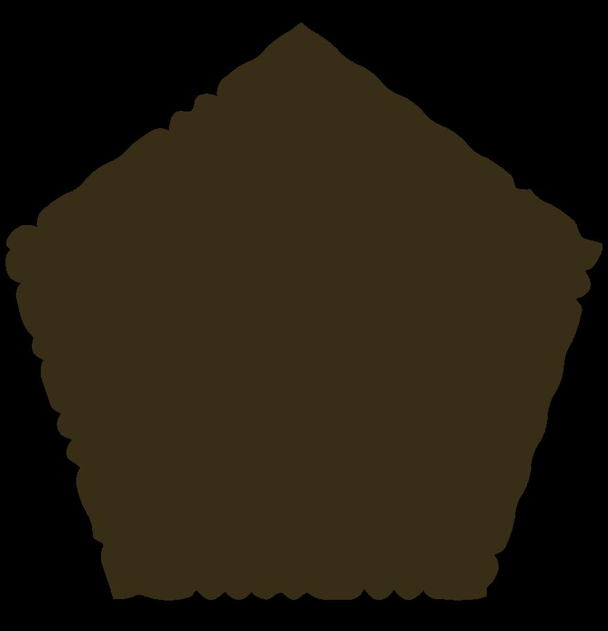 pentagon brown Clipart illustration in PNG, SVG