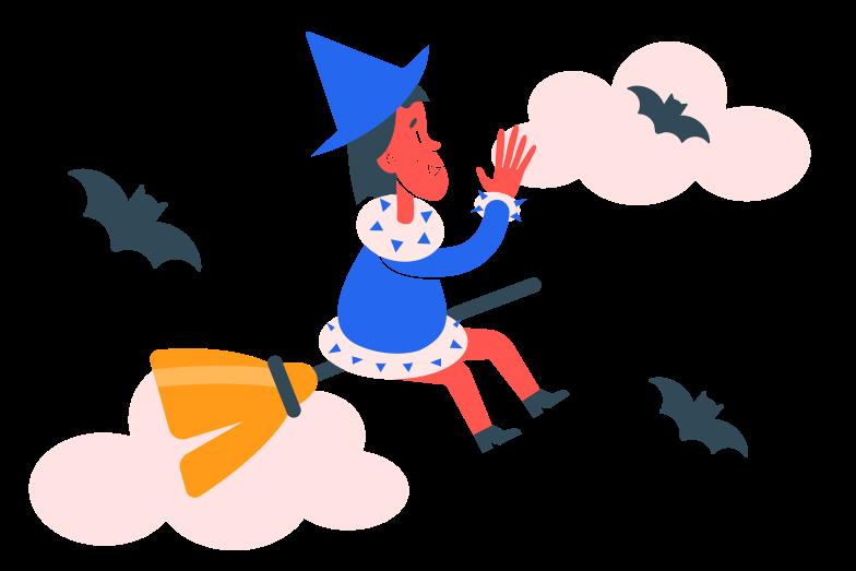 Иллюстрация Маленькая ведьма в стиле  в PNG и SVG | Icons8 Иллюстрации