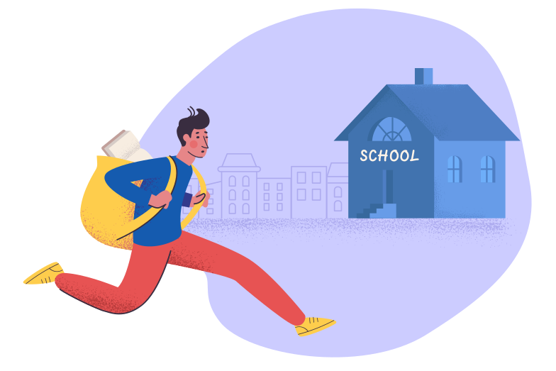 style Late for school Vector images in PNG and SVG | Icons8 Illustrations