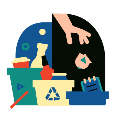 style Sorting garbage images in PNG and SVG | Icons8 Illustrations