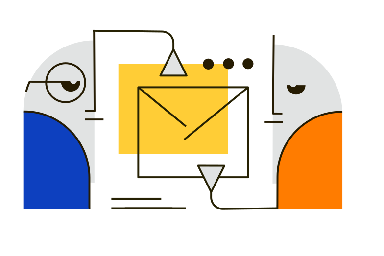 Sending a message Clipart illustration in PNG, SVG